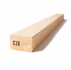 Kalibruota graduota C18 mediena 45x70x6000