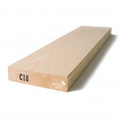 Kalibruota graduota C18 mediena 45x195x6000
