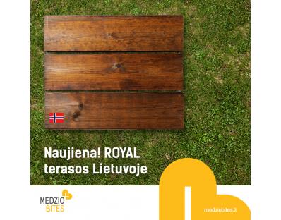 Naujovė Lietuvoje - ROYAL terasinės lentos