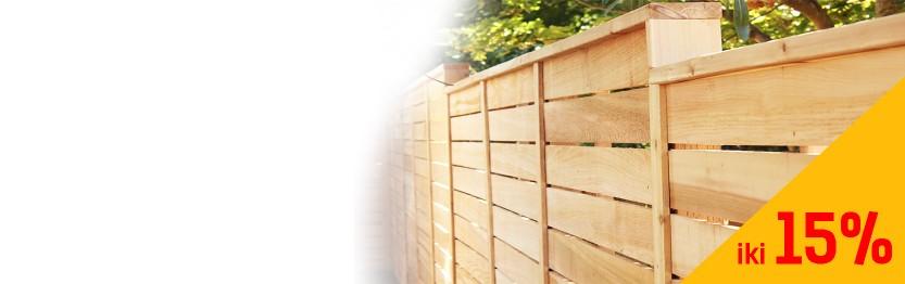 Laikas atsinaujinti tvoras   Tvorų lentoms /nuolaidos iki 15%